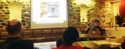 Eugene Zatepyakin presenting @ gotoAndSki Switzerland